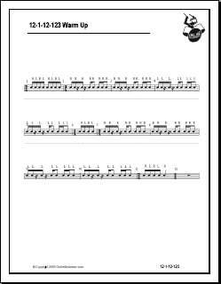 12-1-12-123 Snare Drum Warmup