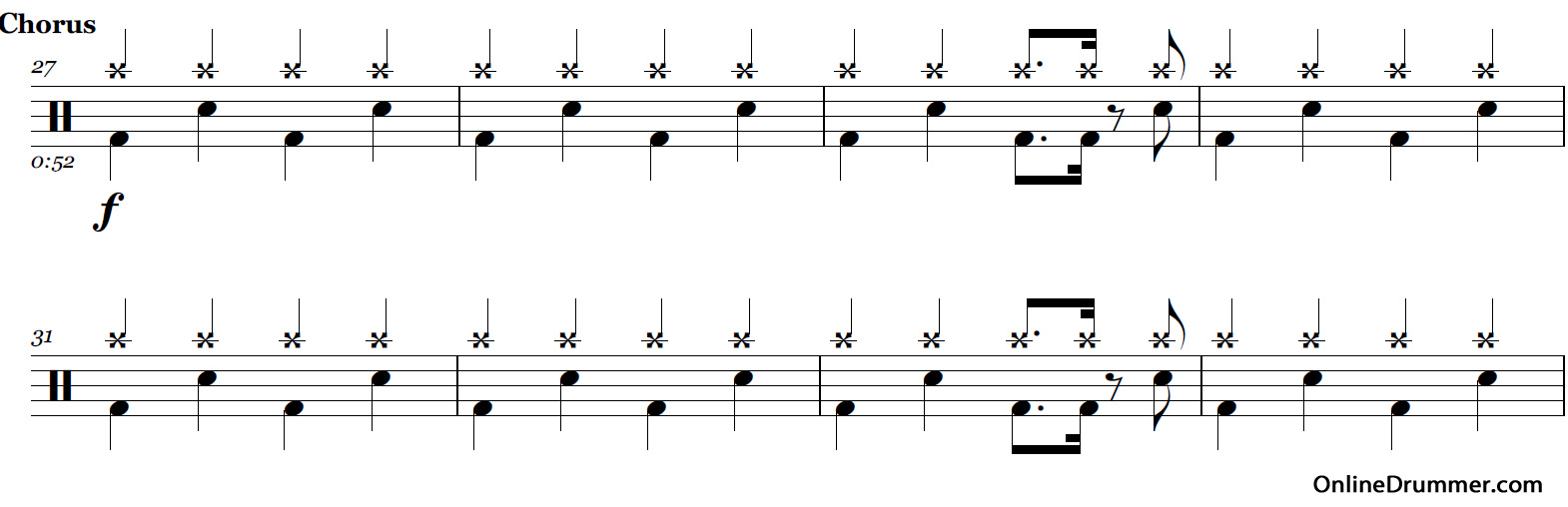seven nation army drum sheet music