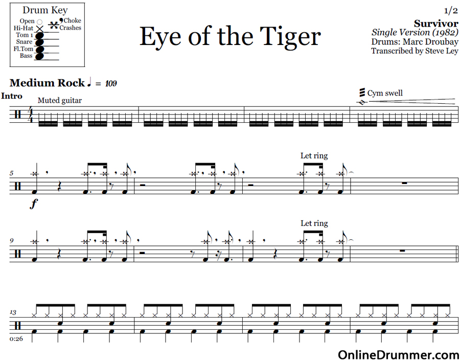 partition batterie eye of the tiger