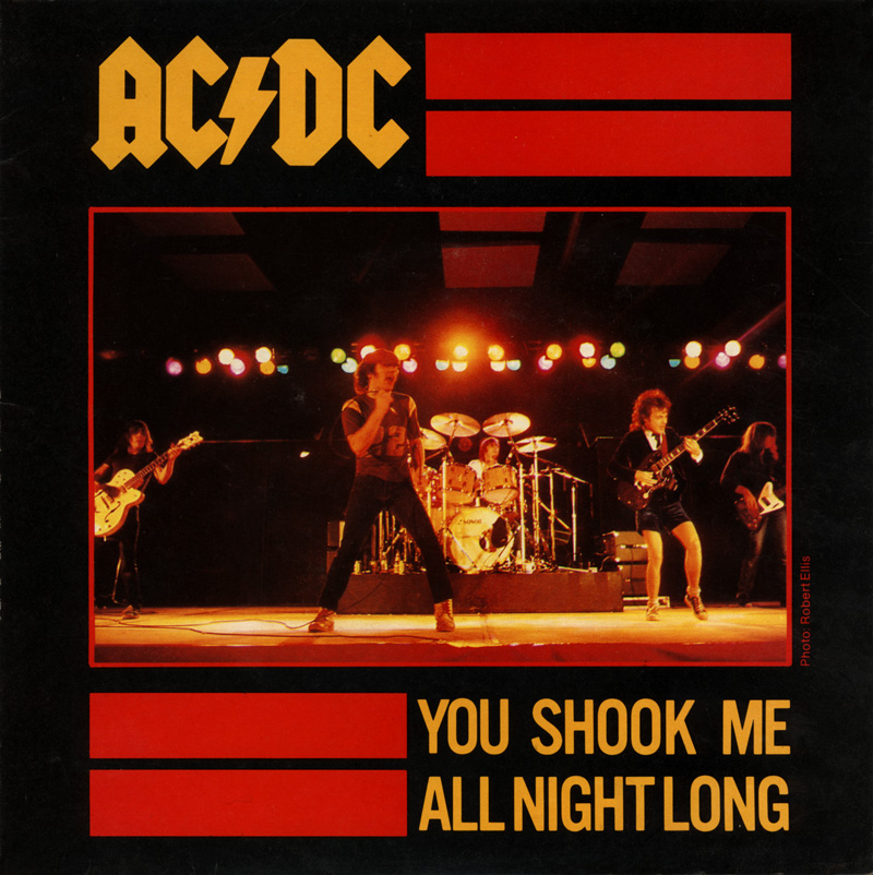 You Shook Me All Night Long - ACDC - Drum Sheet Music