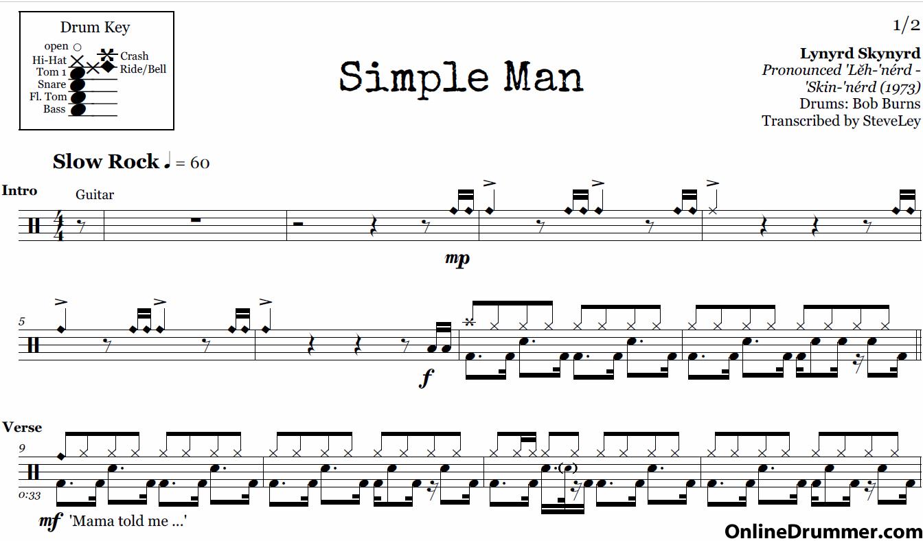Guitar Chords Diagrams Simple Man Lynyrd Skynyrd Complete Wiring