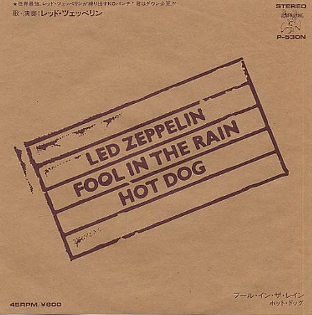 Fool In The Rain - Led Zeppelin - Drum Sheet Music