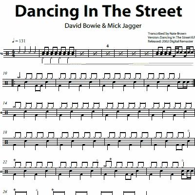 Dancing In The Street – David Bowie & Mick Jagger | OnlineDrummer.com