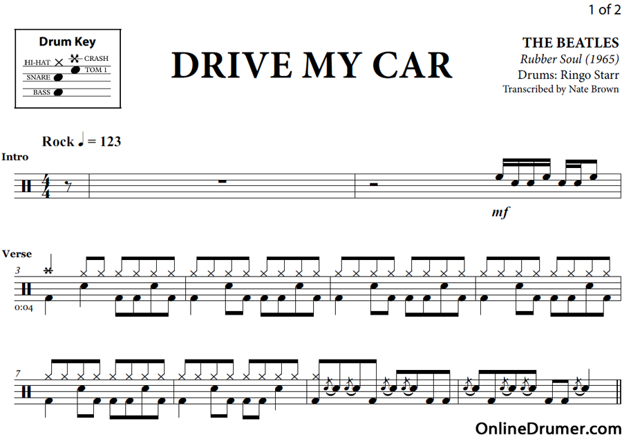 Selective image inside free printable drum sheet music