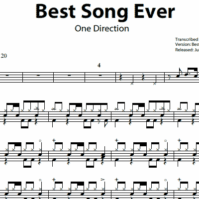 Drum metallica drum tabs : Best Song Ever – One Direction – Drum Sheet Music | OnlineDrummer.com