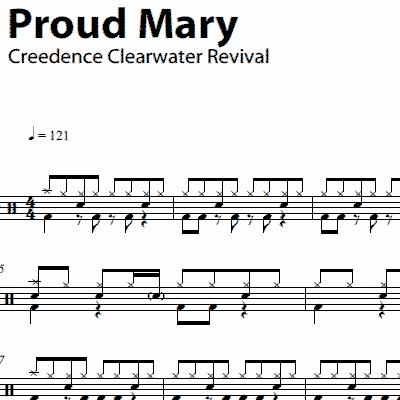 Drum beatles drum tabs : Proud Mary – Creedence Clearwater Revival – Drum Sheet Music ...