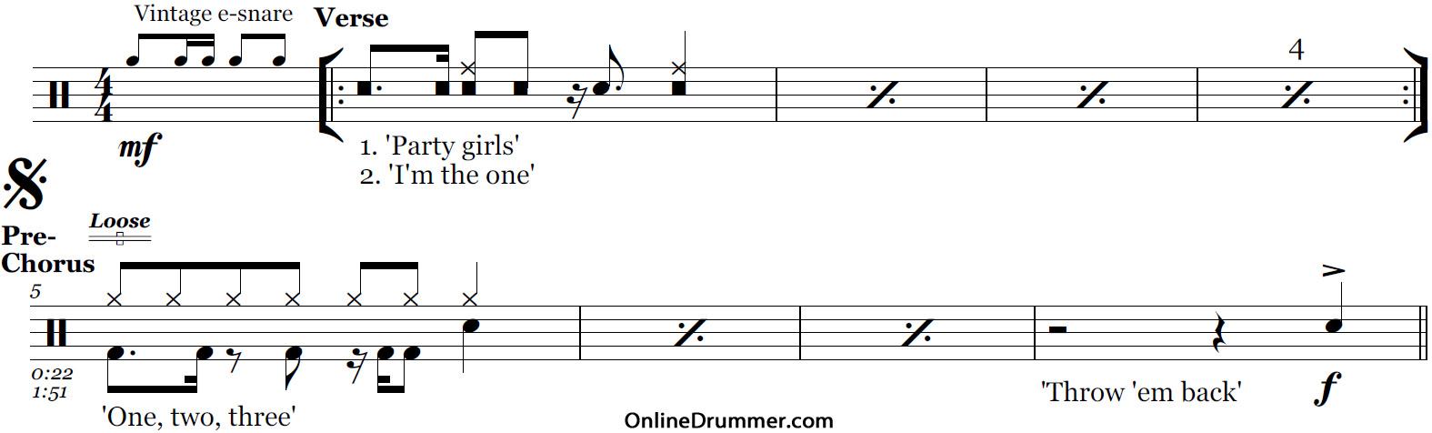 Chandelier sia drum sheet music onlinedrummer sheet music details mozeypictures Images
