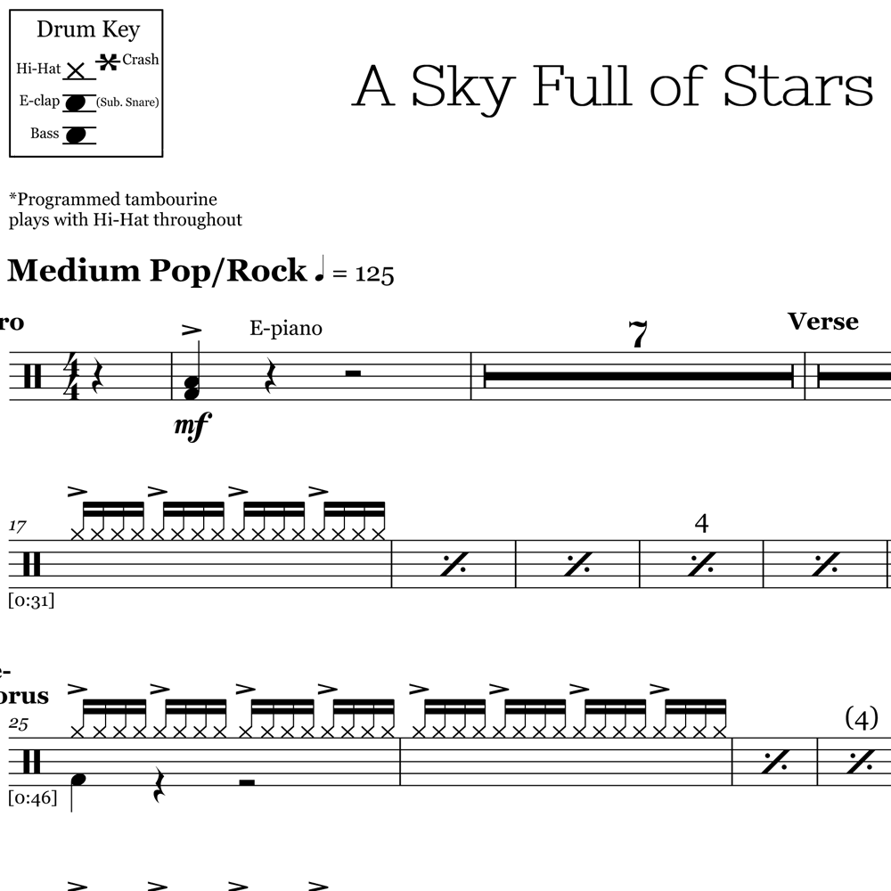 A Sky Full of Stars - Coldplay