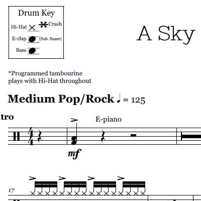 Yellow Coldplay Drum Sheet Music Onlinedrummer