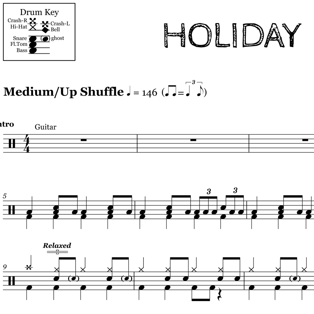 Green Day's Rock Shuffle from Holiday