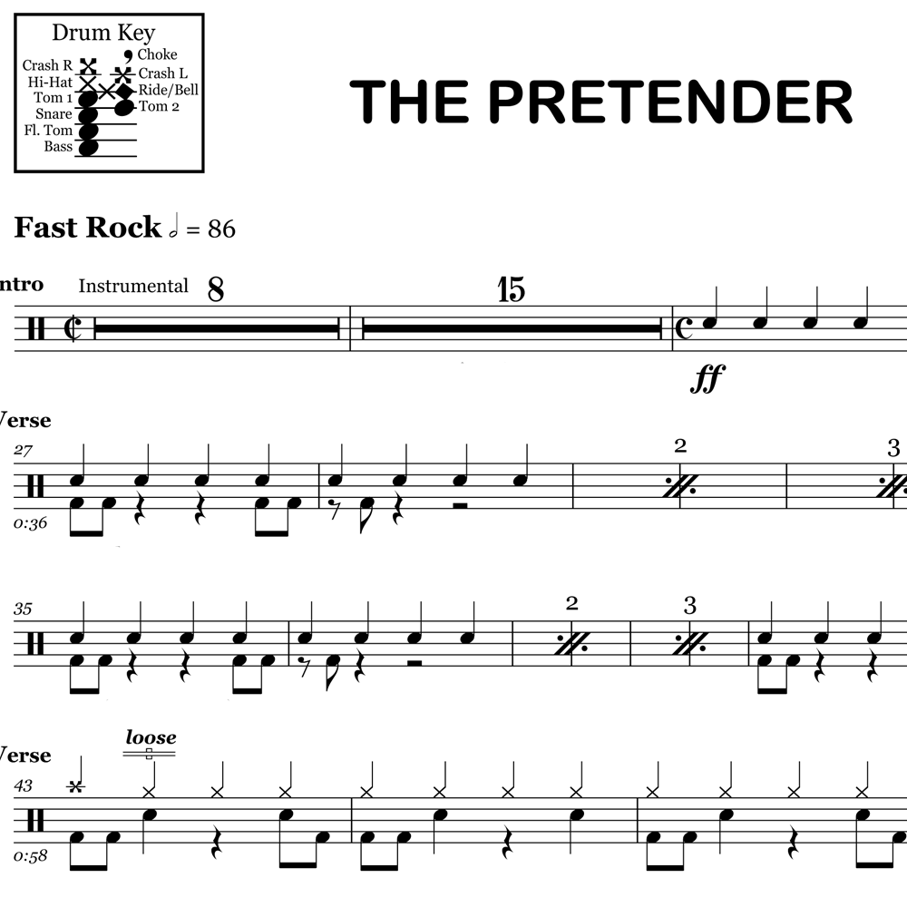 "Stick Tricks from ""The Pretender"" by Foo Fighters"