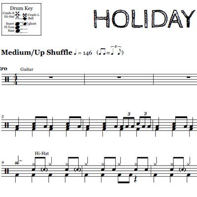 American Idiot – Green Day – Drum Sheet Music   OnlineDrummer.com