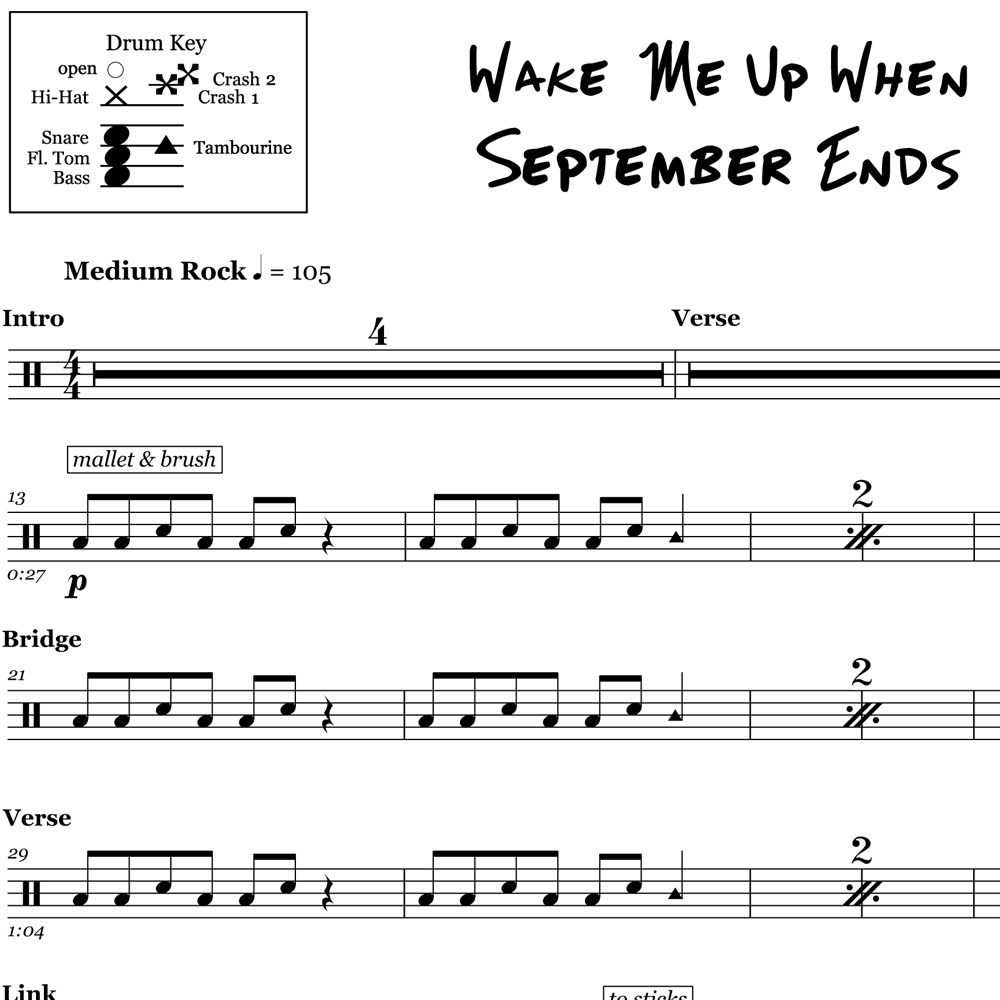 Wake Me Up When September Ends - Green Day - Thumbnail