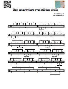 Bass Over Half-time Shuffle