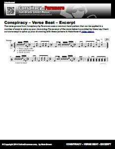 Conspiracy - Verse Beat - Excerpt