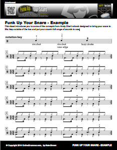 Funk Up Your Snare - Example