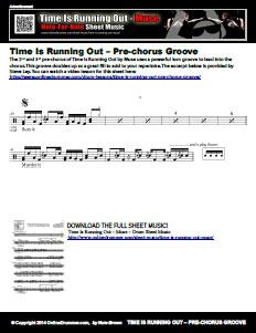 Time Is Running Out - Pre-chorus Excerpt