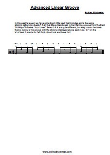 Steve Gadd Style Linear Groove