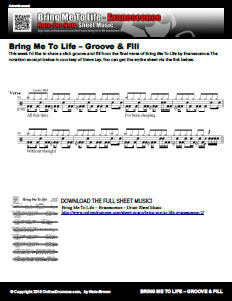 Groove & Fill From Bring Me To Life – OnlineDrummer com