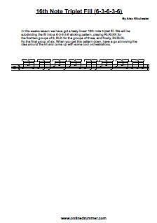 Sixteenth-Note Triplet Fill (6-3-6-3-6) - PDF