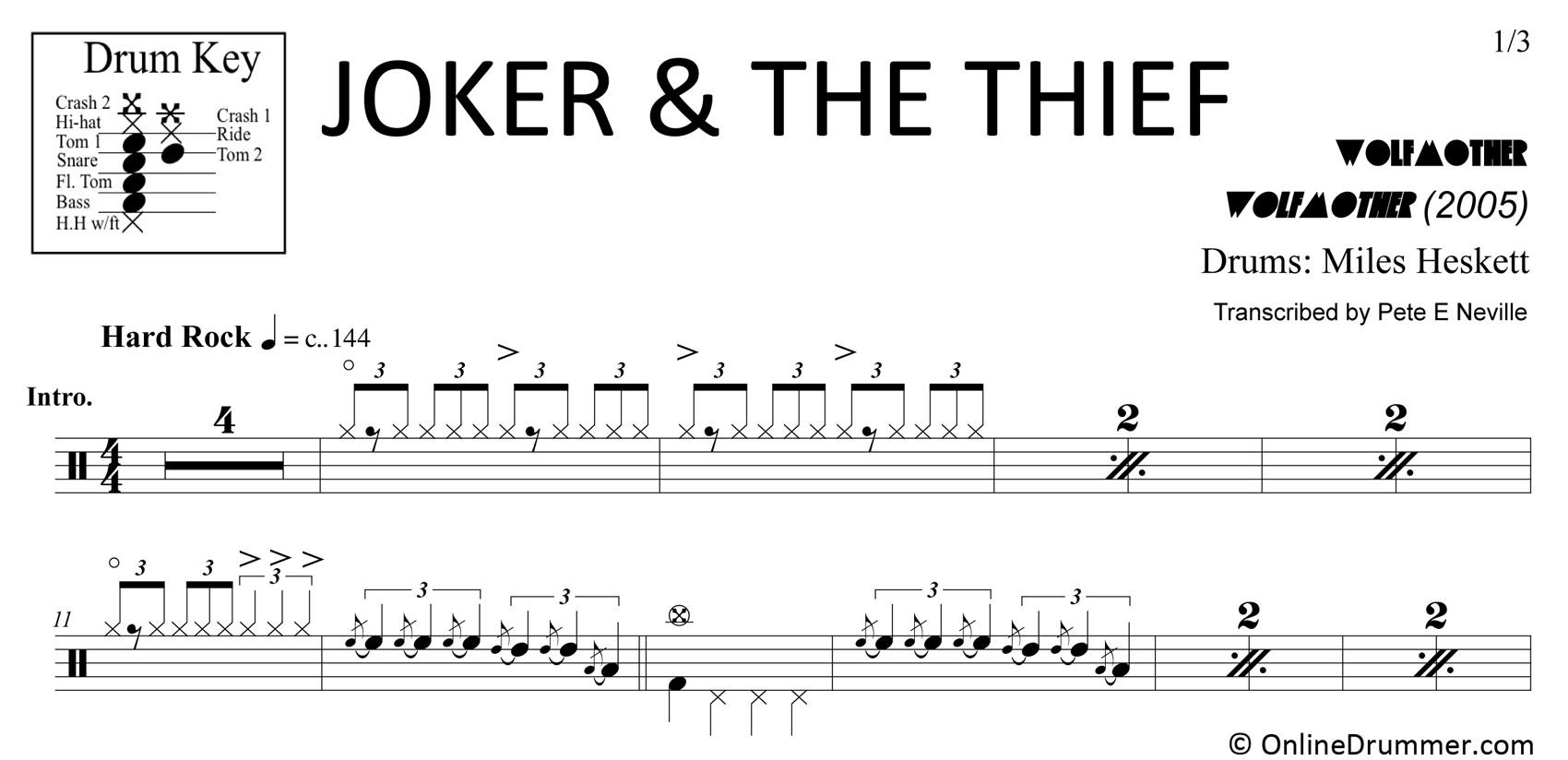Joker & The Thief - Wolfmother - Drum Sheet Music