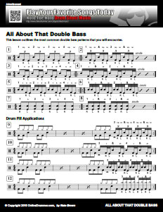 The Most Common Double Bass Patterns Pdf Onlinedrummercom