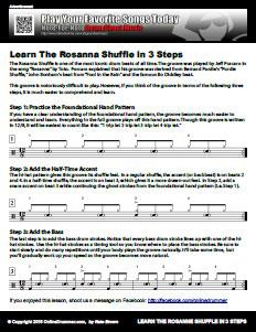 The Rosanna Shuffle Beat Notation