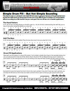 Simple Drum Fill, But Not Simple Sounding - PDF