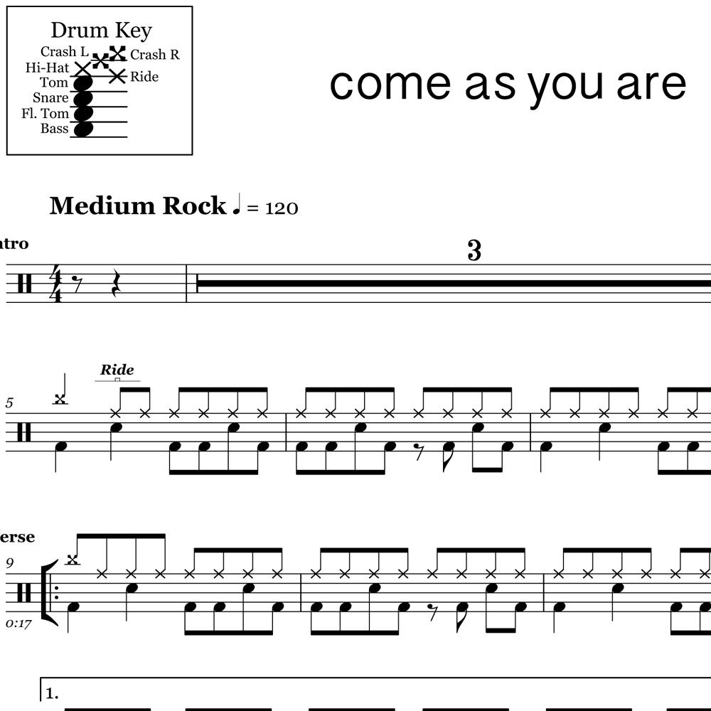 Come As You Are - Pre-chorus & Fill