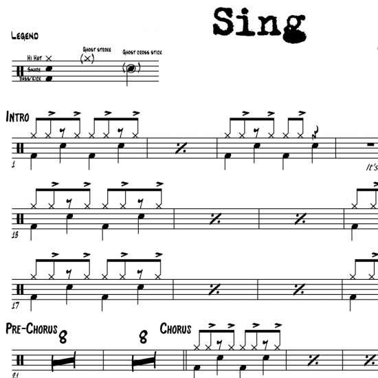 Sing Ed Sheeran Drum Sheet Music Onlinedrummercom