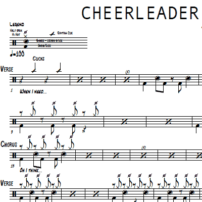 cheerleader sheet music