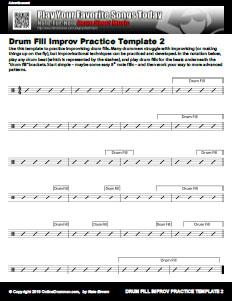 Drum Fill Improv Template 2