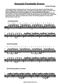 Cool Sextuplet Paradiddle Groove - PDF