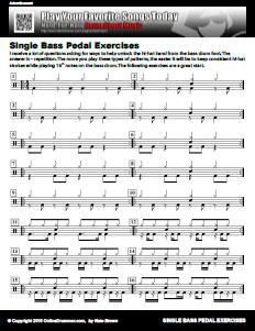 Single Bass Pedal Exercises – PDF – OnlineDrummer com