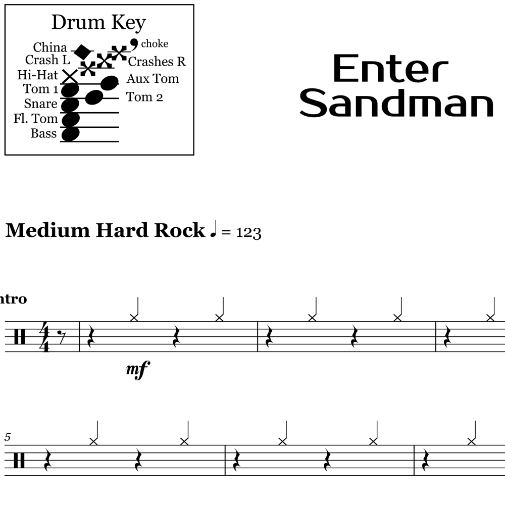 How To Play Enter Sandman Intro Beat