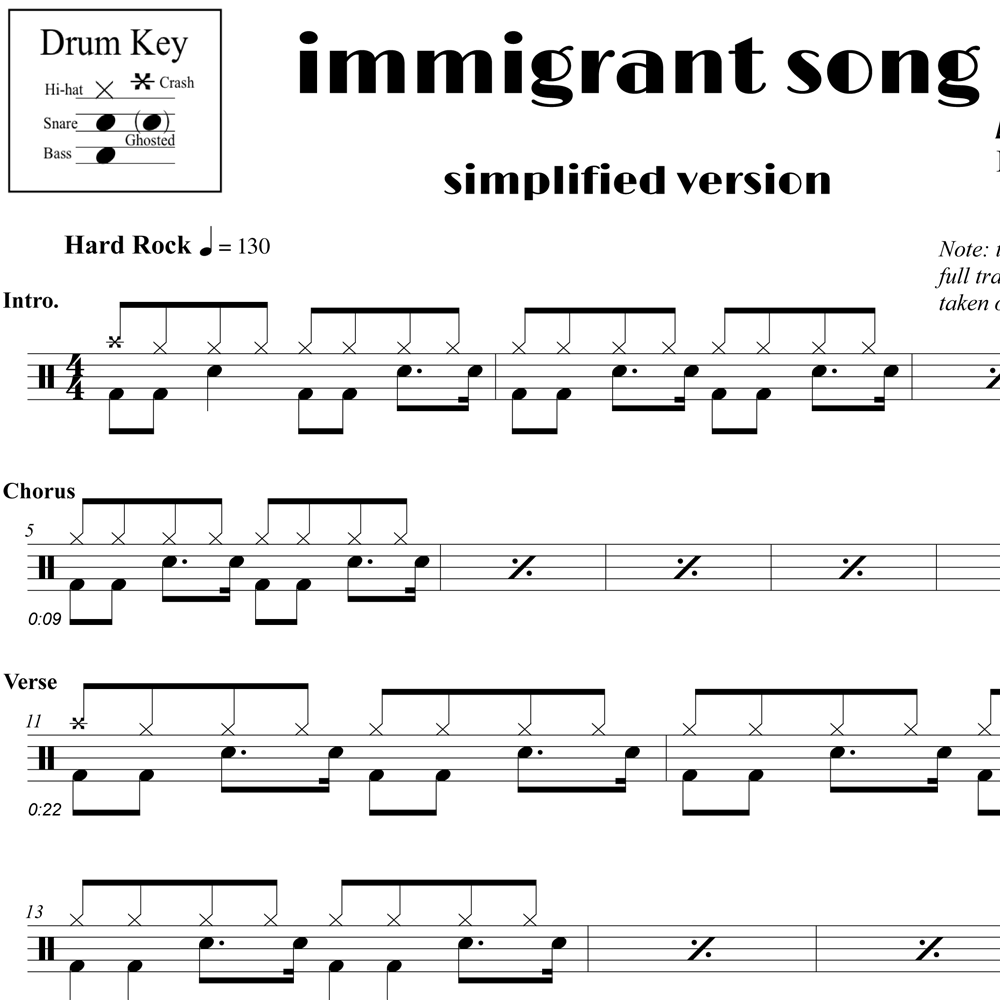 Immigrant Song - Simplified Version