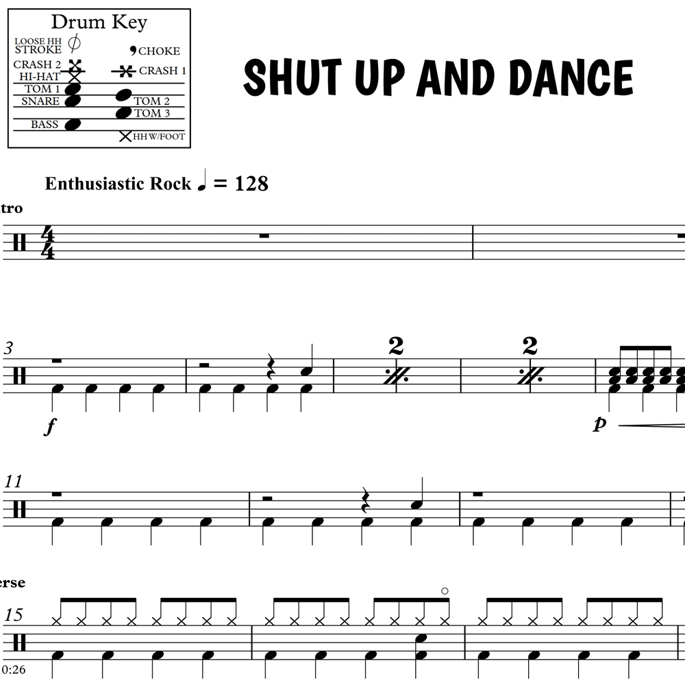 Chorus Groove and Fill from Shut Up and Dance