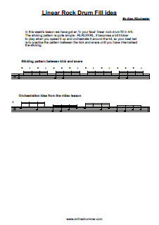 Cool Linear Rock Drum Fill - PDF