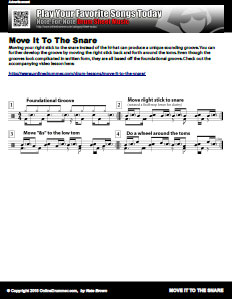 Move It To The Snare - PDF