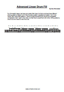 Advanced Linear Drum Fill - PDF