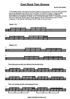 Cool Rock Tom Groove - PDF