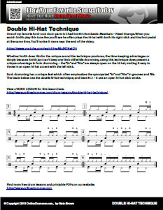 Double Hi-Hat Technique - PDF