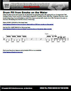 Smoke on the Water Drum Fill - PDF