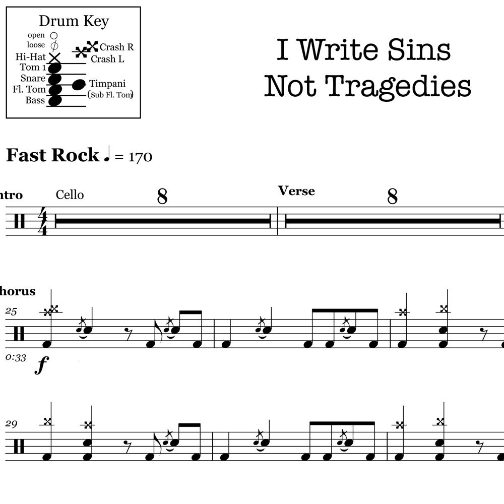 I Write Sins Not Tragedies - Panic! At The Disco – Verse
