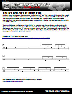 The E's and Ah's of Drum Fills - PDF