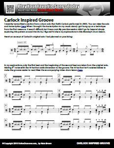 Carlock Inspired Groove - PDF