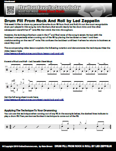 Drum Fill from Rock And Roll by Led Zeppelin