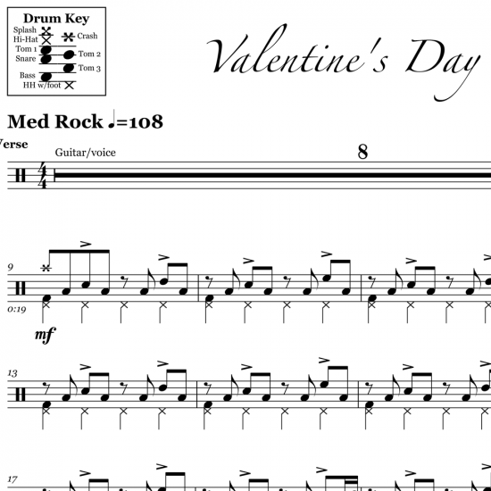 Valentine's Day - Linkin Park - Drum Sheet Music