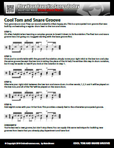 Cool Tom and Snare Groove - PDF