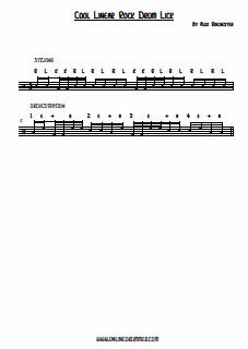 Rock'n Linear Drum Fill! - PDF